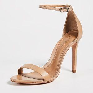 Nude heel sandal